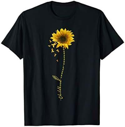Childhood Cancer Awareness Sunflower T-shirt