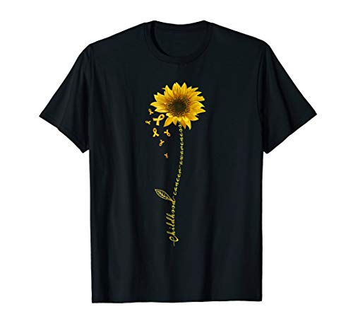 Childhood Cancer Awareness Sunflower T-shirt
