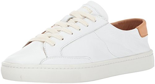 Soludos Women's Ibiza Classic Lace up Sneaker, White, 7 B US