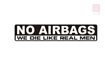Isee 360 No Airbags Quotes Car Sticker Funny Bumper Car Truck