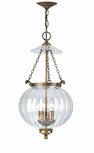 Crystorama 5783-AB Traditional Three Light Pendants from Camden collection in Brass-Antiquefinish, ()