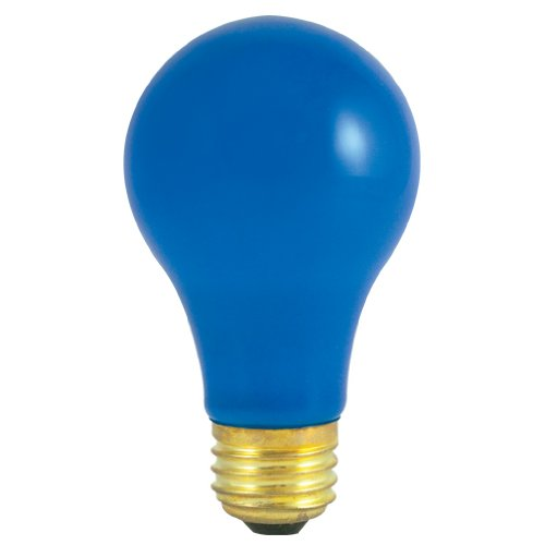 24 Pack 60 Watt A19 Medium Base 120 Volt 2500 Hour Ceramic Blue Incandescent Lightbulb