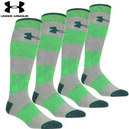 Under Armour Mountain Twist Over-The-Calf Sock - Men's Overcastgray/Green, L