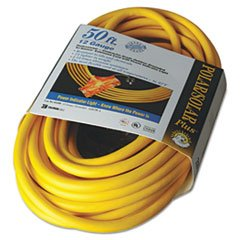 Coc 03488 50 ft. Polar & Solar Outdoor Extension Cord44; Three-Outlets - Yellow by Coc