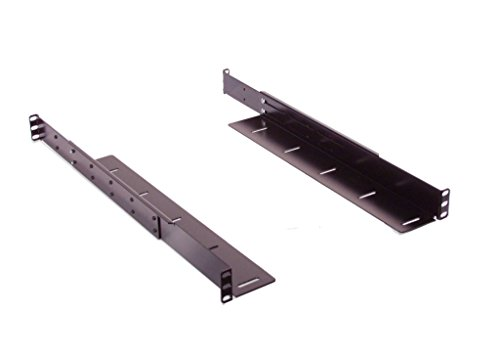 Top Rail Shelving (1U Low profile Adjustable angled supporting rail kit for Desktop, Mini Tower, or rackmount computer. (1 Pair))