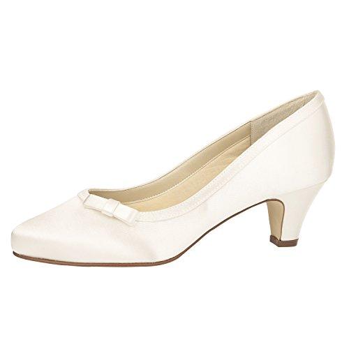 Scarpe Da Sposa Arcobaleno Club Josephine - Pumps, Bianco, Raso - Scarpe Da Sposa, Imbuto Tacco Bianco