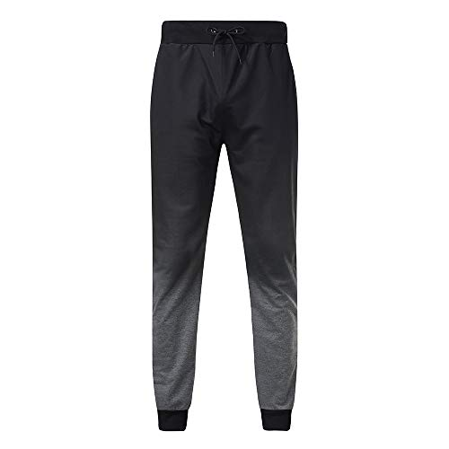Benficial Fashion Mens Casual Jogger Gradient Pants Sweatpants Drawstring Elastic Sports Trousers Dark Gray