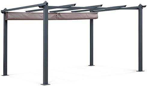 Alices Garden - Pergola, Aluminio, Marrón, 3x4 m: Amazon.es: Jardín