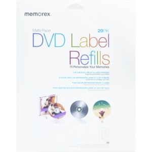 Memorex 32020715 20 Pack DVD Label Refills