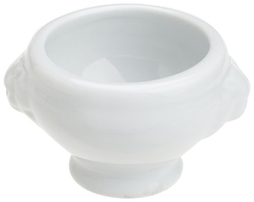 Honey-Can-Do 8059 Porcelain Mini Lion Head Bowl, White, 2-Inches Diameter