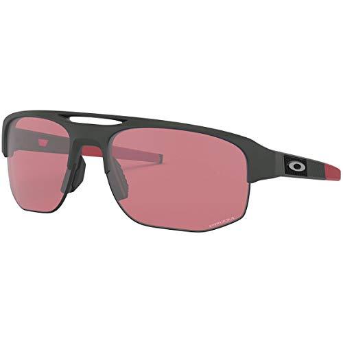 Oakley Men's OO9424 Mercenary Rectangular Sunglasses, Matte Carbon/Prizm Dark Golf, 70 mm