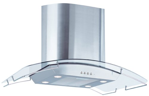 Price comparison product image Air King IBIZ36GL 36-Inch Ibiza Chimney Style Island Mount Range Hood with Glass Canopy,  Stainless Steel