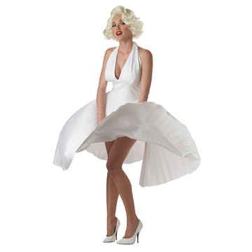 [Deluxe Marilyn Monroe - Small - Dress Size 6-8] (Marilyn Monroe Deluxe Adult Costumes)