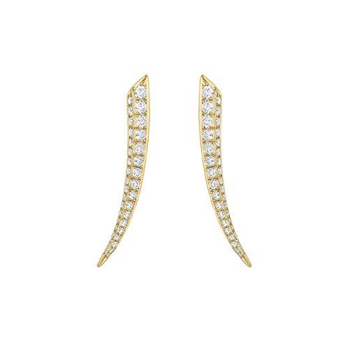 Shaun Leane Boucles d'Oreilles Or Jaune 18carats (750/1000) Ronde Diamant Transparent Femme