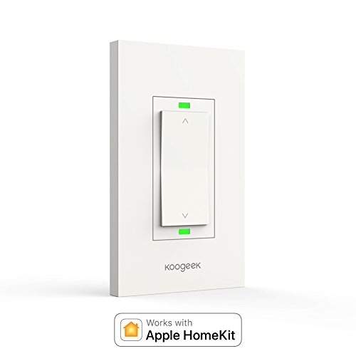 Koogeek Smart WiFi Light Switch Dimmer Works with Apple Homekit, Only for Single Pole, Support Siri on 2.4GHz Network (Require Neutral Wire)