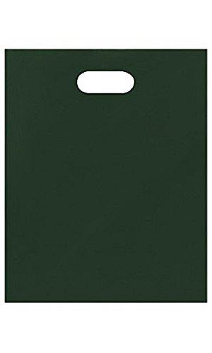 Medium Low Density Dark Green Merchandise Bags - Case of 1,000 by STORE001