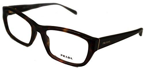 Prada Pr18ov Womens Rectangle Havana Eyeglasses, Limited Edition, 2au1o1, - Sunglasses Edition Limited Prada