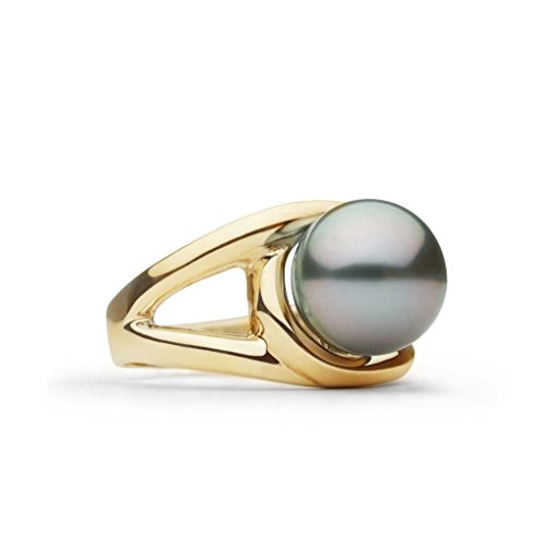 Ellipse Collection Tahitian Cultured Pearl Ring 14K Yellow Gold / 7