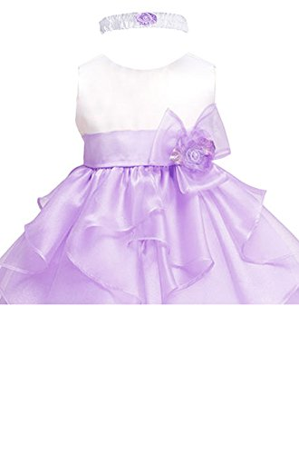 Amj Dresses Inc Baby Girls Lilac Flower Birthday Party
