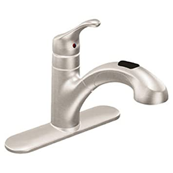 Amazon.com: Moen CA87316SRS Pullout Spray Faucet from the Renzo ...