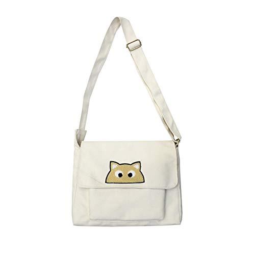 HPZSX Lunch Bag Waxed Canvas Durable Plastic-Free for Men Women and Kids Shoulder Canvas Bag,White,333325cm