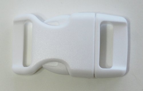 5/8'' Contoured Side Release Buckles for Paracord Bracelets Multiple Size and Quantity (white, 25 pack)