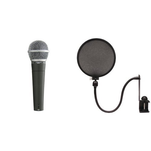 Pyle-Pro PDMIC58 with Nady MPF-6 Pop Filter