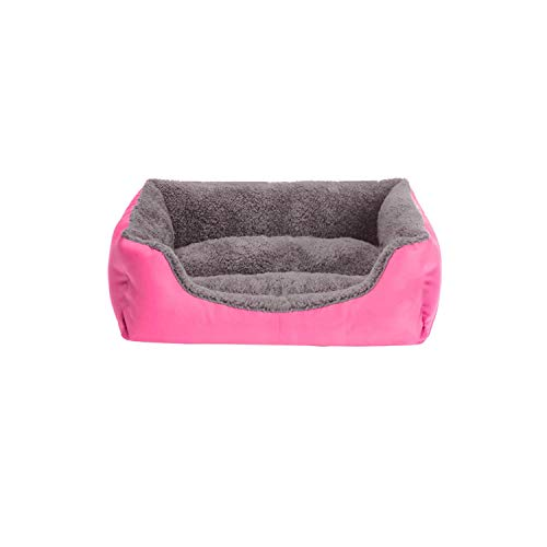 (LinJiaJia_shop Dog Beds Paw Pet Sofa Waterproof Bottom Soft Fleece Warm Cat Bed House Petshop cama perro,C,S 45cmx40cmx12cm)