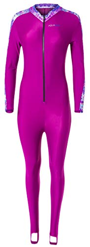 Aqua Blue Sport Skin Spandex Super-Stretch Body Suit, Perfect for Surfing, Diving, Snorkeling, All Water Sports. 50+ UPF (Aztec, XL)