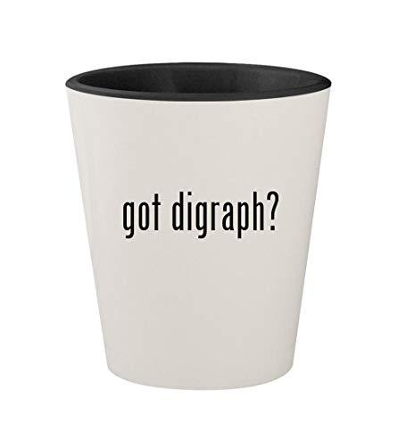 got digraph? - Ceramic White Outer & Black Inner 1.5oz Shot Glass ()