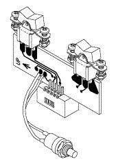 Switch Assembly (Rockers RT) for A-dec ADA215