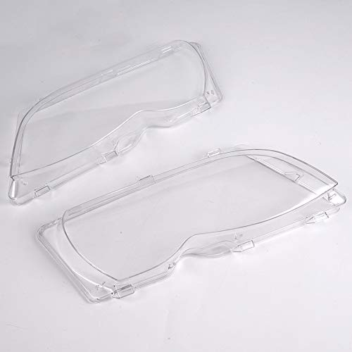 (G-PLUS for BMW E46 4Door 320i 325i 325xi 330i 330xi 02-05 Left Right Side Headlight Headlamp Lense Clear Lens Cover)