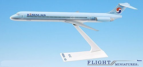 korean-air-84-cur-md-80-airplane-miniature-model-plastic-snap-fit-1200-part-amd-08000h-015