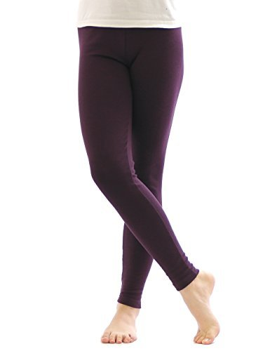 legging thermique pantalons Leggings long coton chaud épais doux - violet foncé, XL