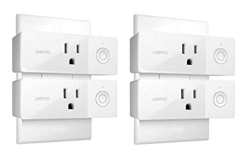 Wemo Mini Smart Plug, Wi-Fi Enabled, Compatible with Alexa (F7C063-RM2) (4 pack) (Renewed)