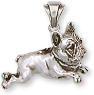 French Bulldog 925 Sterling Silver Dog Jewelry Handmade Pendant Bracelet