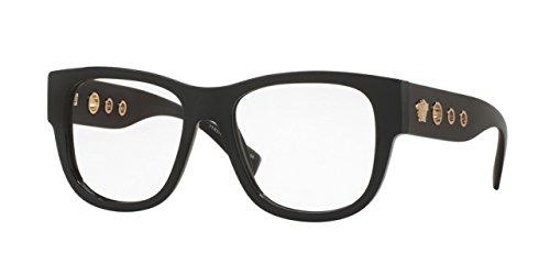 Versace VE3230 Eyeglass Frames GB1-52 - 52mm Lens Diameter Black (Gb1 Lens)