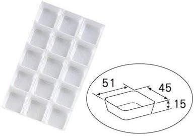 パッケージ中澤 5cm角平トレー 15号用