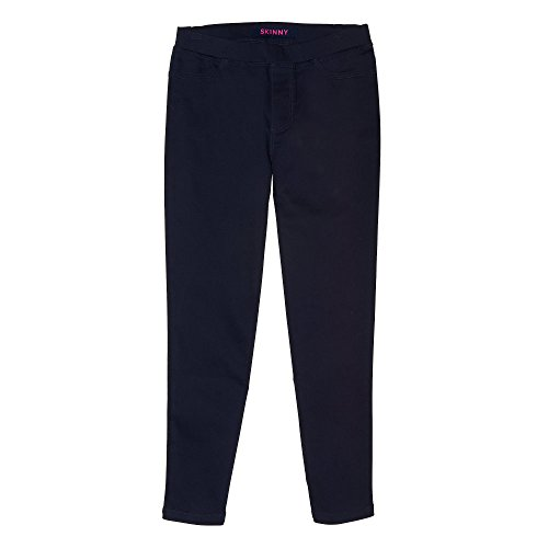 Girls School Uniform Pant - French Toast Girls' Little Stretch Skinny Pull-On Pant, Navy, 6