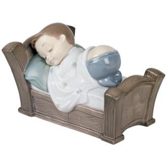 Nao by Lladro Collectible Porcelain Figurine: SNUGGLE DREAMS - 3 1/4