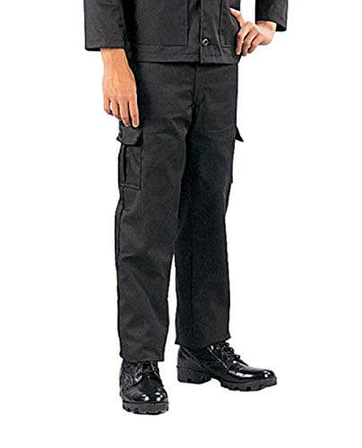 hersrfv clothing Kids Boys Black Tactical Swat Military Style BDU Airsoft Pants Fatigues