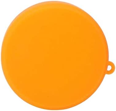Silicone Protective Lens Cover for DJI New Action Durable Color : Orange