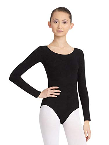Capezio Women's Long Sleeve Leotard,Black,Small (Black Leotard Gymnastics)