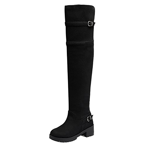 COOLCEPT Women Fashion Block Heel Long Boots SUBlack lbeO2