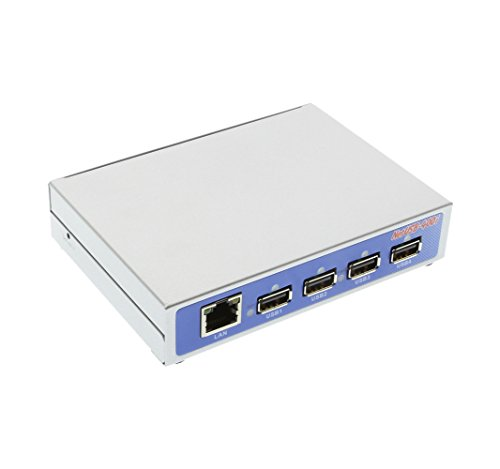 Coolgear Industrial USB 2.0 Over IP Network 4-Port Hub, Share any USB Device Over TCP/IP Network