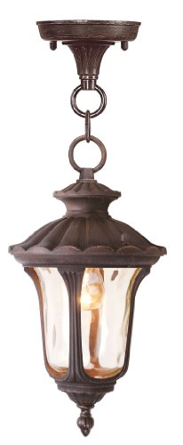 Livex Lighting 7668-58 Oxford 1 Light Outdoor Hanging Lantern, Imperial Bronze