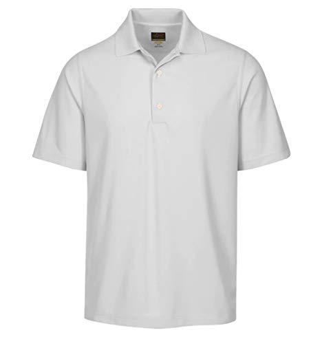 Greg Norman Men's Protek Micro Pique Polo, White, 4X-Large - Luxury Pique Polo