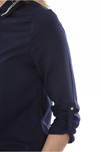 Lunga Camicia Donna Guess Blu Manica pwEqzqHnd6