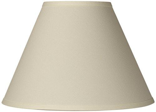 antique white linen empire lamp