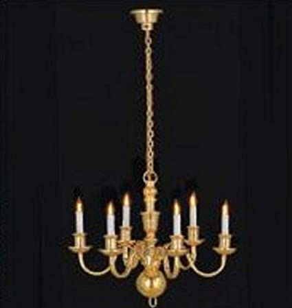 Dollhouse Candle Chandelier Battery Operated Lighting 1:12 Doll House Miniature